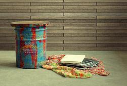 Reclaimed Drum Stool Furniture