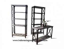 Tablo Industrial Console Table 1 Shelf Indonesia Industrial Furniture