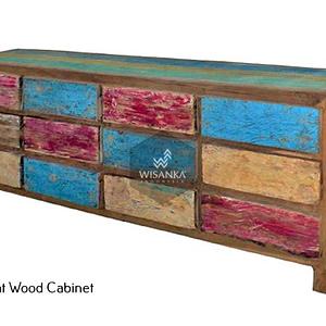 Sharon Boat Wood Cabinet