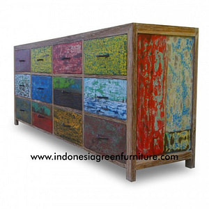 Belang Belang 12 Drawer Indonesia Reclaimed Boat