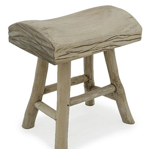 Bucharest wooden stool