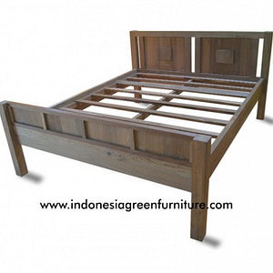 Napoleon queen size bed reclaimed teak