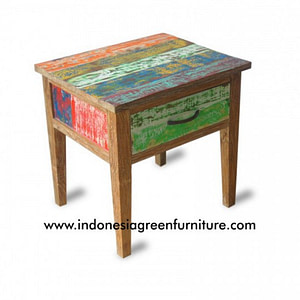 Side Table Indonesia Reclaimed Boat