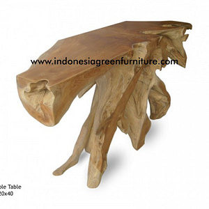 console table reclaimed teak root