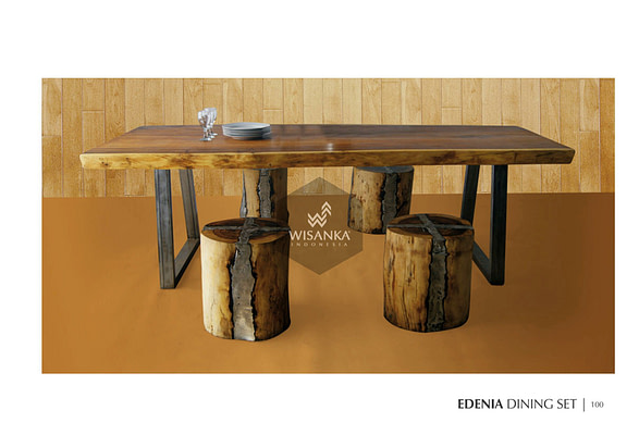 Edenia Dining Set Industrial Furniture