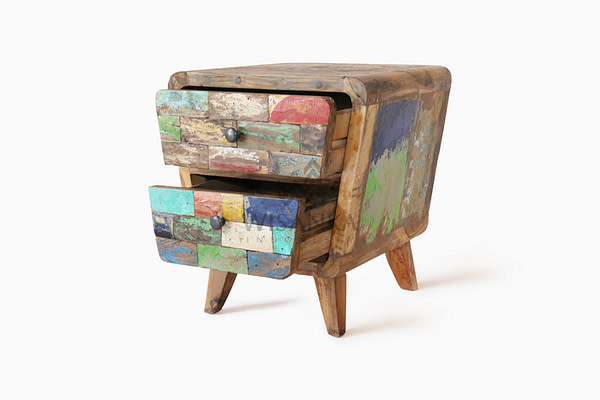 Reclaimed Boat IDELA NIGHT STAND