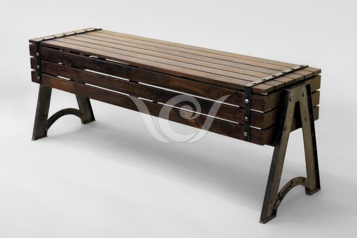 Verne Long Bench Indonesia Industrial Furniture