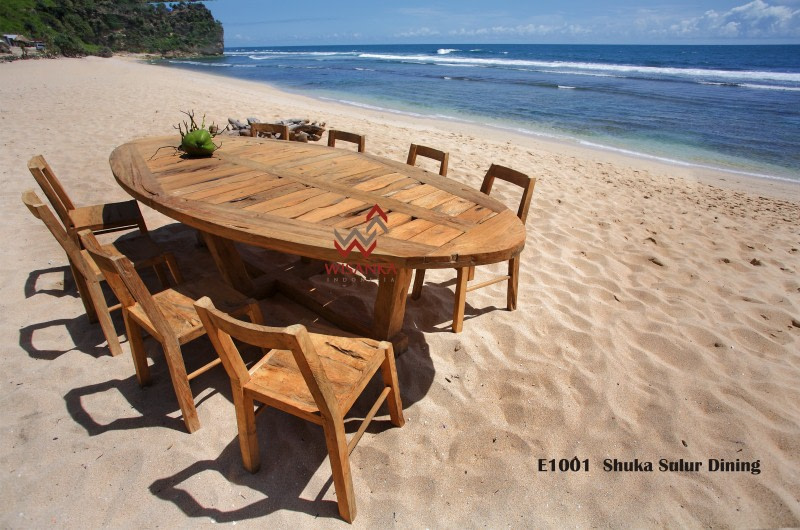 Industrial Reclaimed Wood Dining Table Jepara Vintage Recycle Furniture