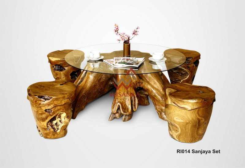 Reclaimed Teak Wood Furniture Sanjaya Set